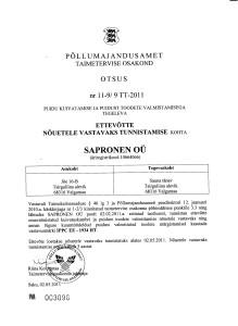 IPPC ISPM15 standardile kuumtöötlus litsents